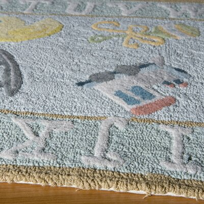 Kiki Hand-Tufted Blue Kids Rug Rug Size: Rectangle 5 x 7