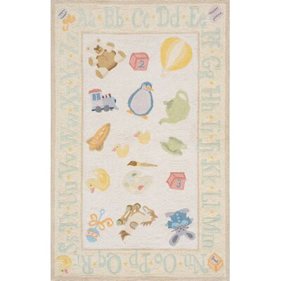Kiki Yellow Kids Rug Rug Size: Rectangle 2 x 3
