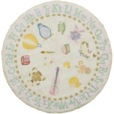 Kiki Pink Kids Rug Rug Size: Rectangle 8 x 10