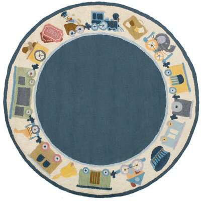 Kiki Blue Kids Rug Rug Size: Rectangle 4 x 6