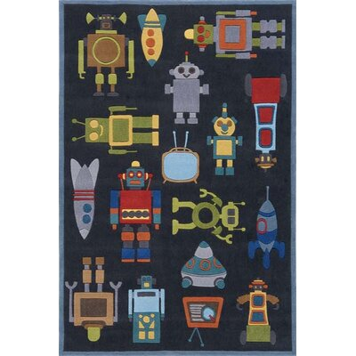 Johnnie Hand-Tufted Steel Kids Rug Rug Size: Rectangle 4 x 6