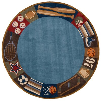 Johnnie Denim Hand-Tufted Blue Kids Rug Rug Size: 4 x 6