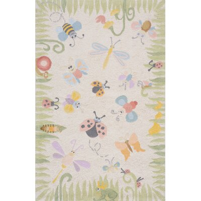 Kiki Green/Gray Kids Rug Rug Size: 5 x 7