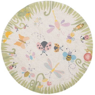 Kiki Green/Gray Kids Rug Rug Size: Rectangle 8 x 10