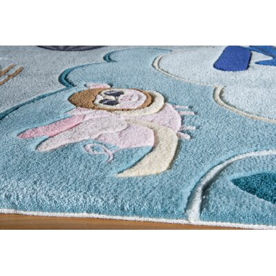 Johnnie Hand-Tufted Blue Area Rug Rug Size: 5 x 7