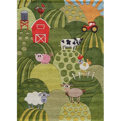 Johnnie Hand-Tufted Grass Green Area Rug Rug Size: 4 x 6