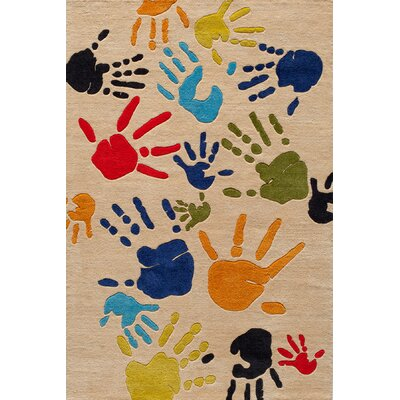 Johnnie Hand-Tufted Beige Kids Rug Rug Size: 8 x 10