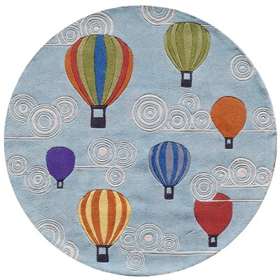 Johnnie Hand-Tufted Blue Kids Rug Rug Size: Round 5