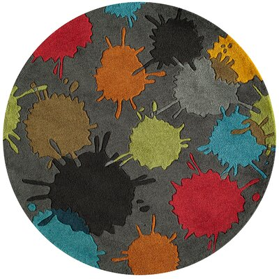 Fabio Hand-Tufted Gray Kids Rug Rug Size: Rectangle 4 x 6