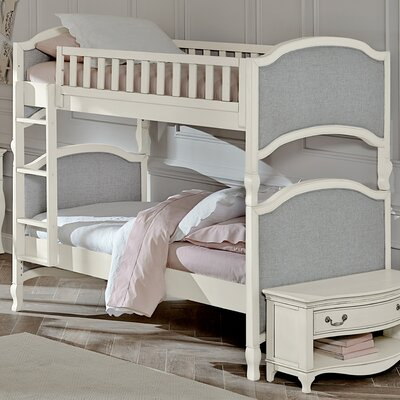 Donnie Twin Bunk Bed Size: Twin over Twin, Finish: Antique White