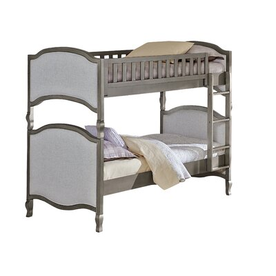Donnie Twin Bunk Bed Size: Twin over Twin, Finish: Antique Silver