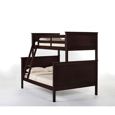 Lyric Twin over Full Bunk Bed Finish: Chocolate