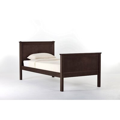 Lyric Panel Bed Size: Twin, Finish: Chocolate
