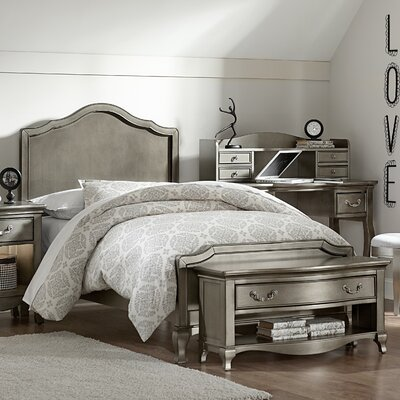 Winifred Bed Size: Twin, Color: Antique White