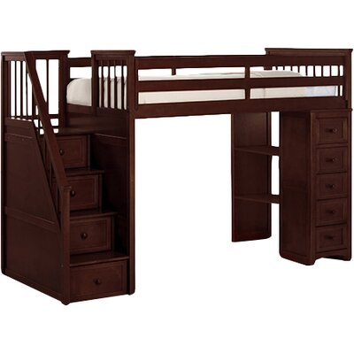 Lyric Traditional Stair Loft with Chest End Finish: White