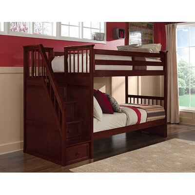 Summer Twin over Twin Stair Bunk Finish: Cherry