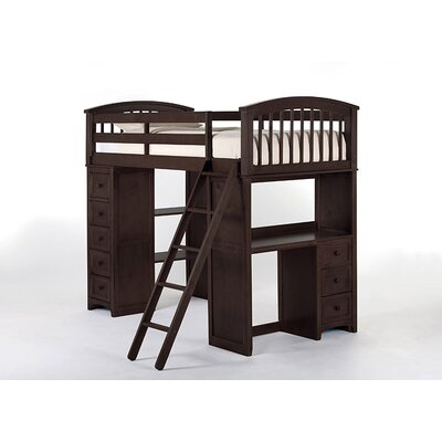Javin Student Loft Bed Finish: Chocolate