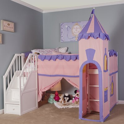 Lyric Princess Loft with Stairs Color: White