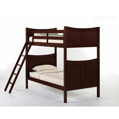 Lyric Traditional Bunk Bed Size: Twin, Color: Cherry