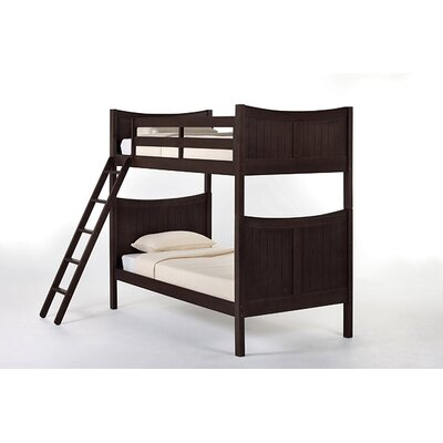Lyric Traditional Bunk Bed Size: Twin, Color: Chocolate