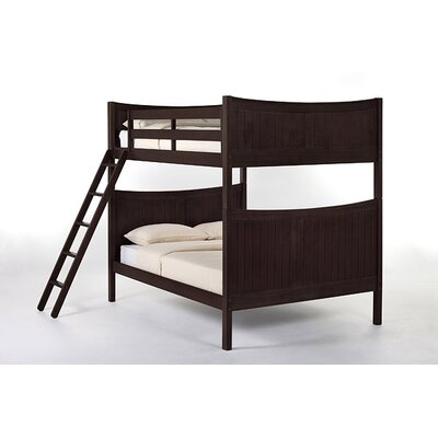 Lyric Traditional Bunk Bed Size: Full, Finish: Chocolate