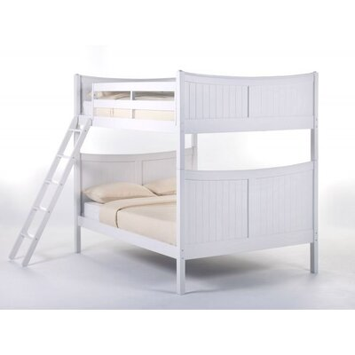 Summer Bunk Bed Size: Full, Finish: White