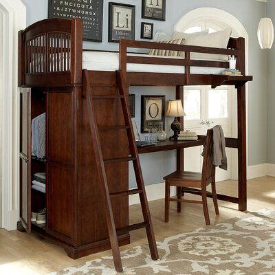 Tracy Loft Bed Finish: Chestnut