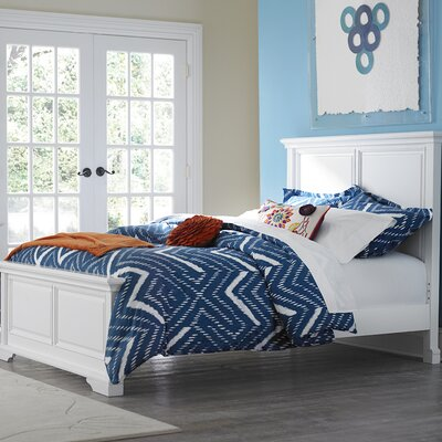 Tracy Panel Bed Finish: White, Size: Full