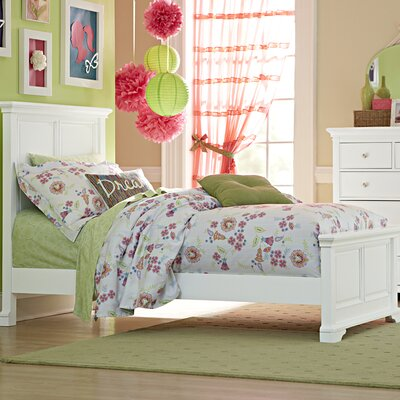 Ayalisse Traditional Solid Wood Panel Bed Color: White, Size: Twin