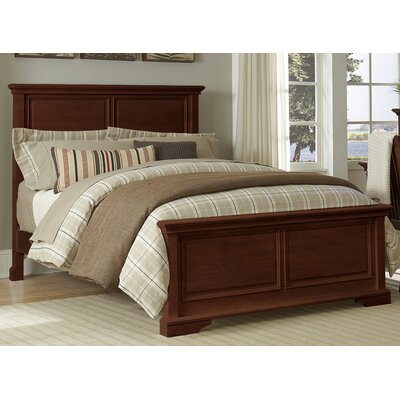 Ayalisse Traditional Solid Wood Panel Bed Color: Chestnut, Size: Full