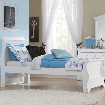 Ayalisse Wood Sleigh Bed Finish: White, Size: Twin