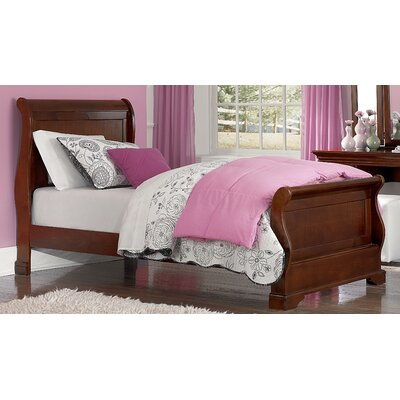 Ayalisse Wood Sleigh Bed Finish: Chestnut, Size: Full