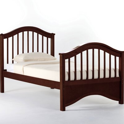 Lyric Slat Bed Size: Twin, Finish: Cherry