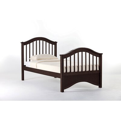 Lyric Slat Bed Size: Twin, Finish: Chocolate