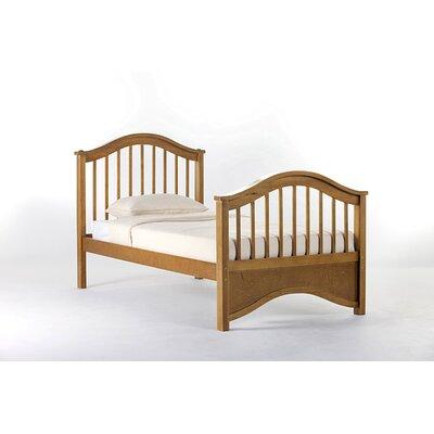 Lyric Slat Bed Size: Twin, Color: Pecan