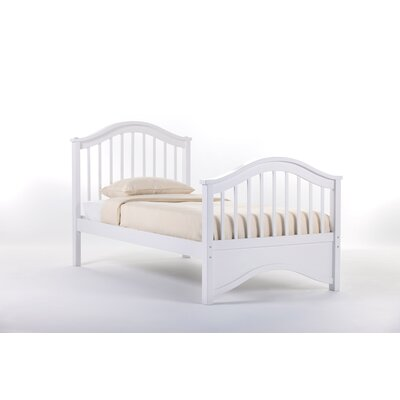 Lyric Slat Bed Size: Twin, Finish: White