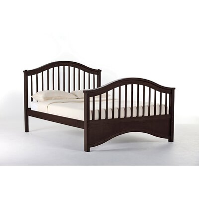Lyric Slat Bed Size: Full, Finish: Chocolate
