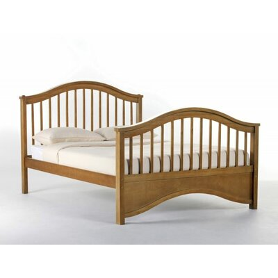Lyric Slat Bed Size: Full, Finish: Pecan