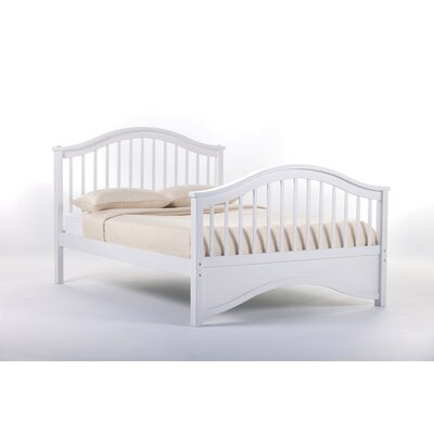 Lyric Slat Bed Size: Full, Finish: White