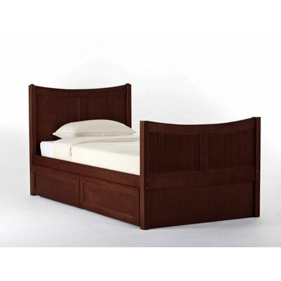 Javin Panel Bed with Ladder Size: Twin, Finish: Cherry