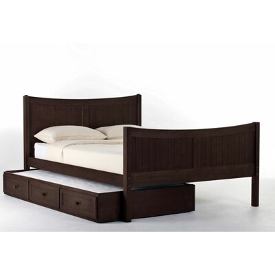 Javin Panel Bed with Ladder Size: Full, Color: Chocolate