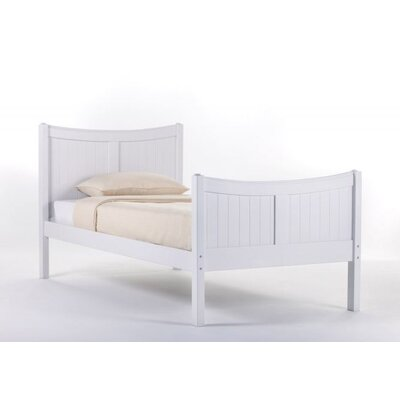 Summer Panel Bed Size: Twin, Finish: White