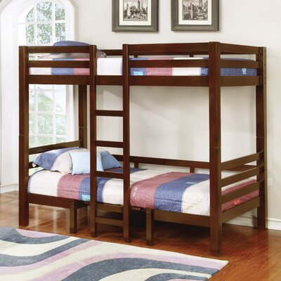 Audrey Twin/Twin Convertible Loft Slat Bed