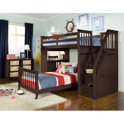 Javin Loft Bed Upper Side Rails and Slats Finish: Chocolate
