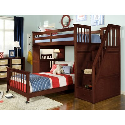 Javin Loft Bed Upper Side Rails and Slats Finish: Cherry