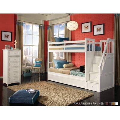 Javin Loft Bed Upper Side Rails and Slats Finish: White
