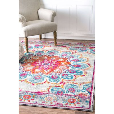 Felicity Pink Area Rug Rug Size: 4 x 6