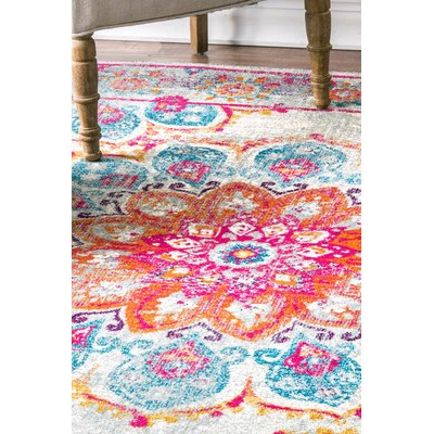 Felicity Pink Area Rug Rug Size: Rectangle 8 x 10