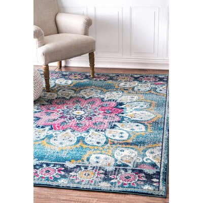 Vera Turquoise Area Rug Rug Size: 4 x 6