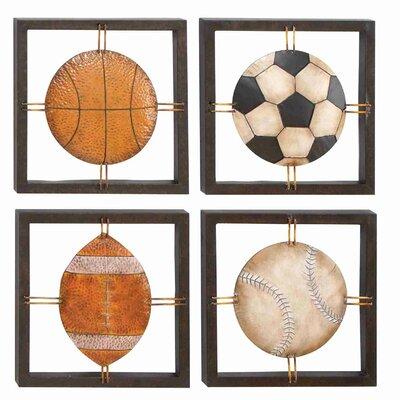 4 Piece Cosmopolitan Ball Lovers Framed Decorative Figure VVRO7754 34913052